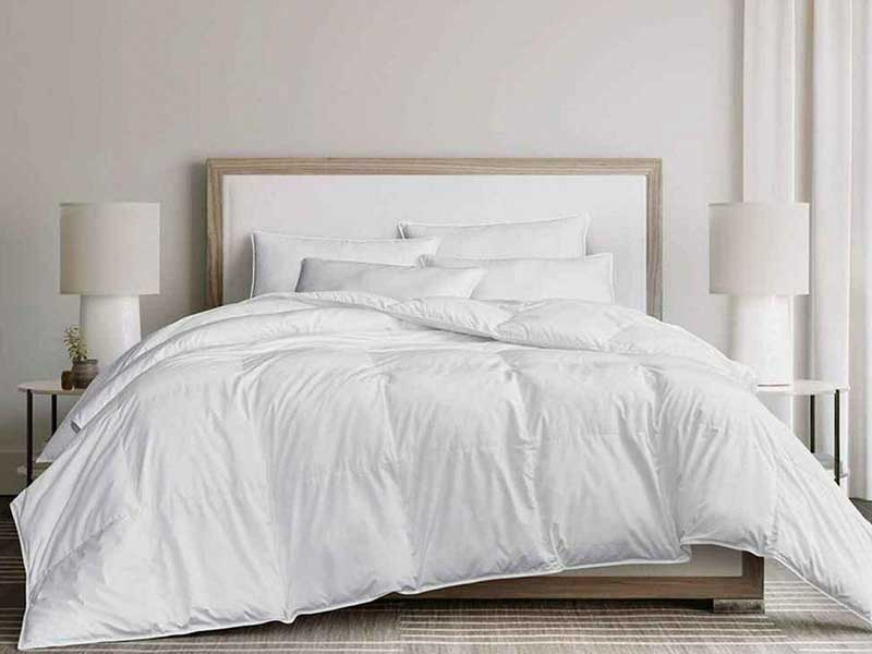 down feather filled comforters and pillows